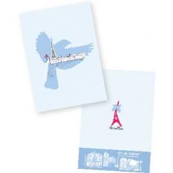 Carnet oiseau bleu